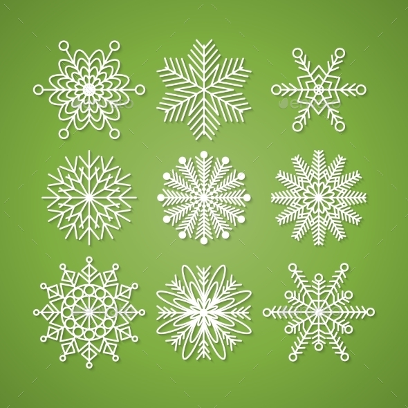 GraphicRiver Collection of Snowflakes 9319294
