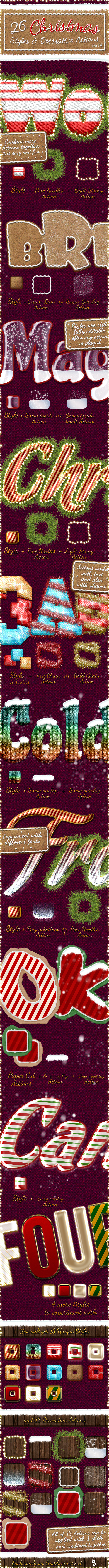 Christmas And Winter Styles And Actions 4 - Text Effects Actions
