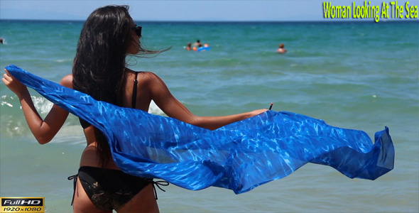 VideoHive Woman Looking At The Sea 9320264