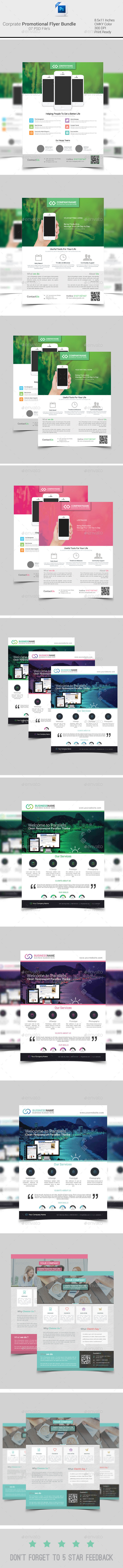 GraphicRiver Corporate Promotion Flyer Bundle 9320397