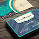 Night Beach Vintage Business Card - GraphicRiver Item for Sale