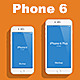 Flat Phone 6 & Phone 6+ Mockup - GraphicRiver Item for Sale