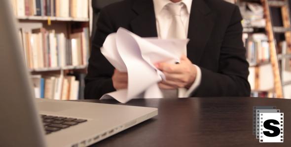 Nervous Businessman At Office