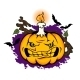 Angry Halloween Pumpkin - GraphicRiver Item for Sale