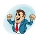 Power Muscular Businessman - GraphicRiver Item for Sale