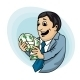 Businessman with Money - GraphicRiver Item for Sale