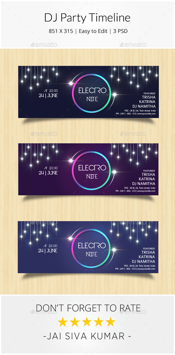 GraphicRiver DJ Party Timeline 9321394