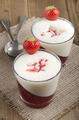 strawberry dessert with vanilla froth - PhotoDune Item for Sale