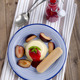 panna cotta with plum and biscuit - PhotoDune Item for Sale