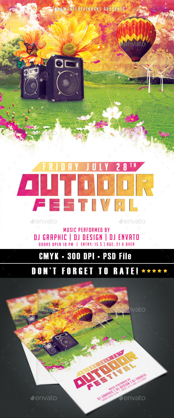 GraphicRiver Outdoor Festival 9321554