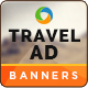 Travel & Tourism Web Banner Design Set - GraphicRiver Item for Sale