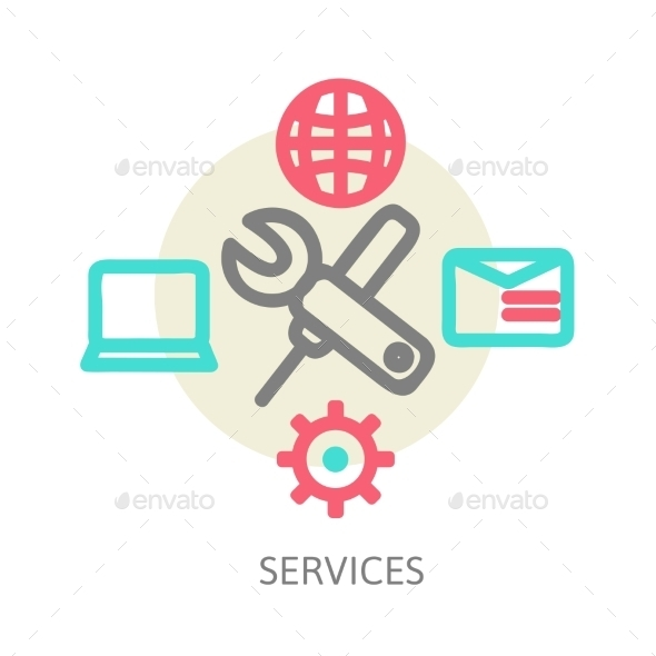GraphicRiver Web Services Concept 9321709