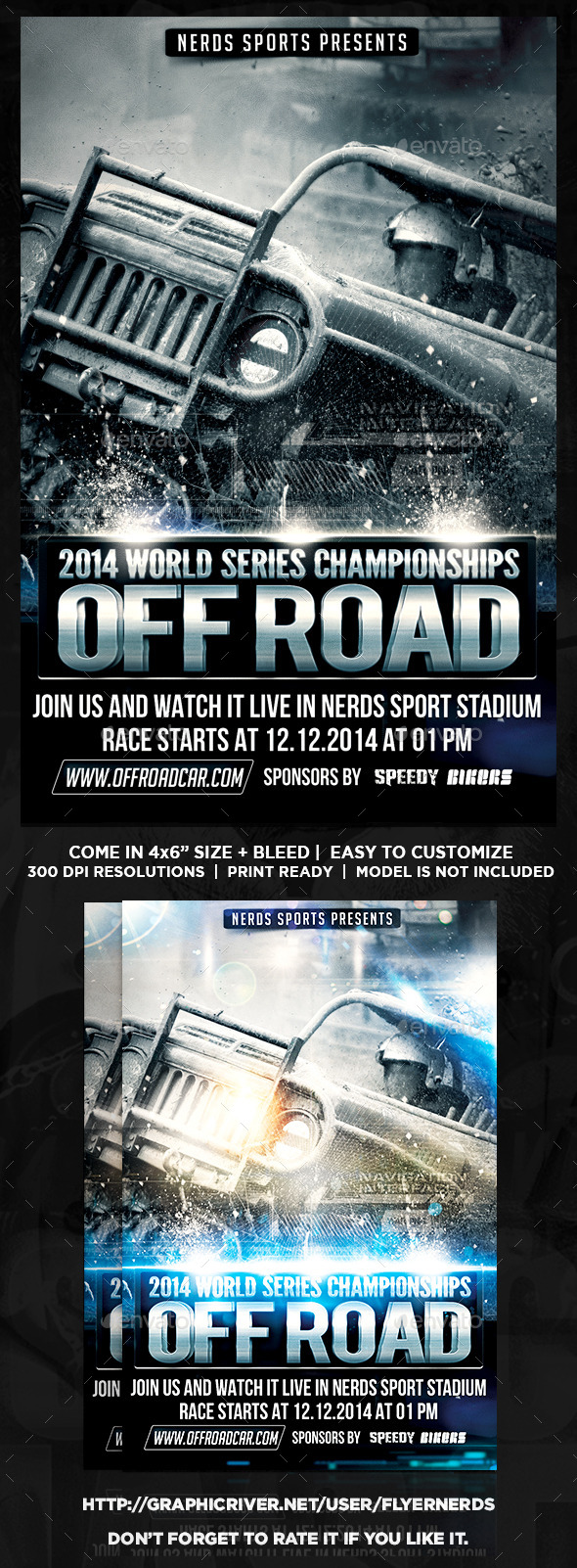GraphicRiver Car Off Road Competition Flyer 9321725