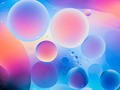 macro of colorful oil drops on water surface - PhotoDune Item for Sale