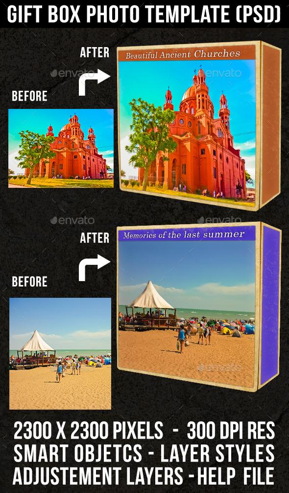 GraphicRiver Gift Box Photo Template 9321802