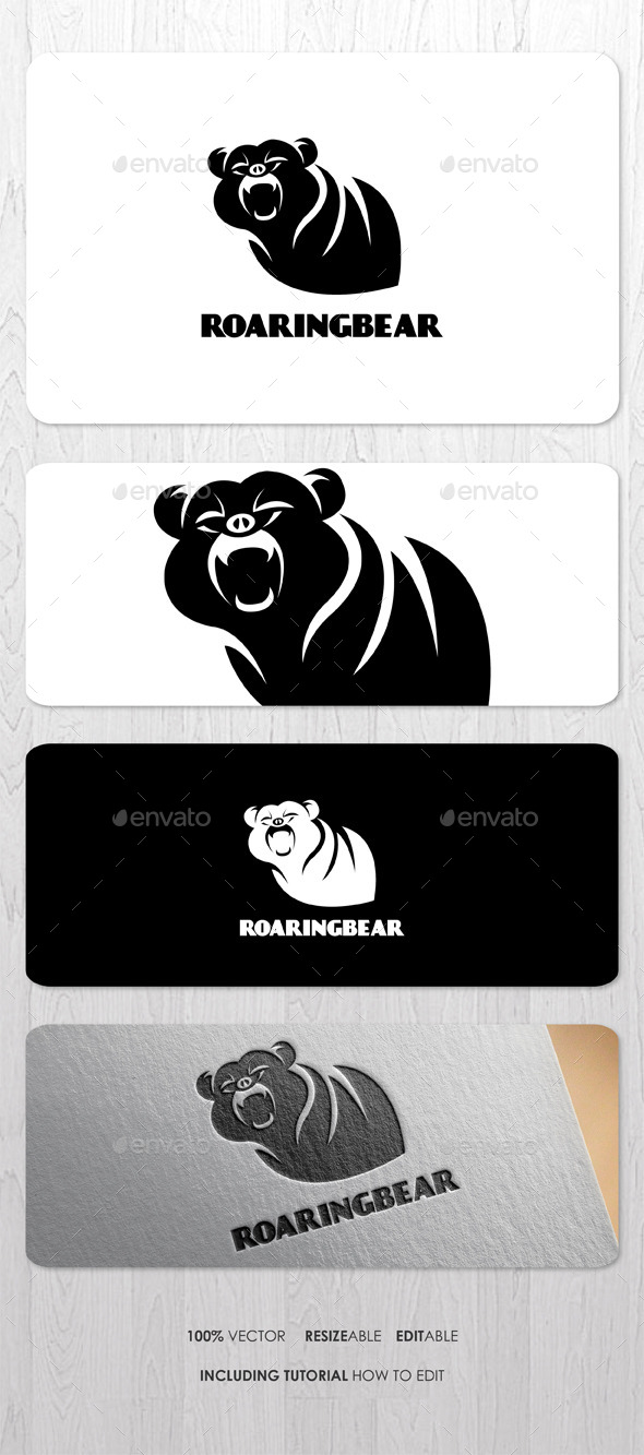 GraphicRiver Roaring Bear Logo 9321832