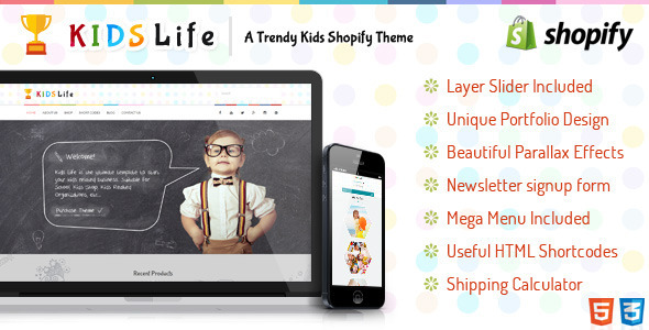 Kids Life is a beautifully designed Shopify Theme for kinder gardens, Day care, preschool and it would suit for any children, art, craft, school & Training