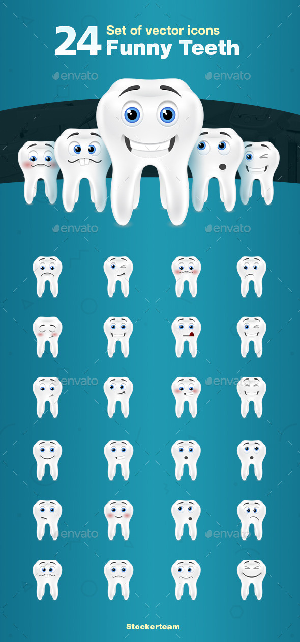 GraphicRiver 24 Teeth Icons 9259723
