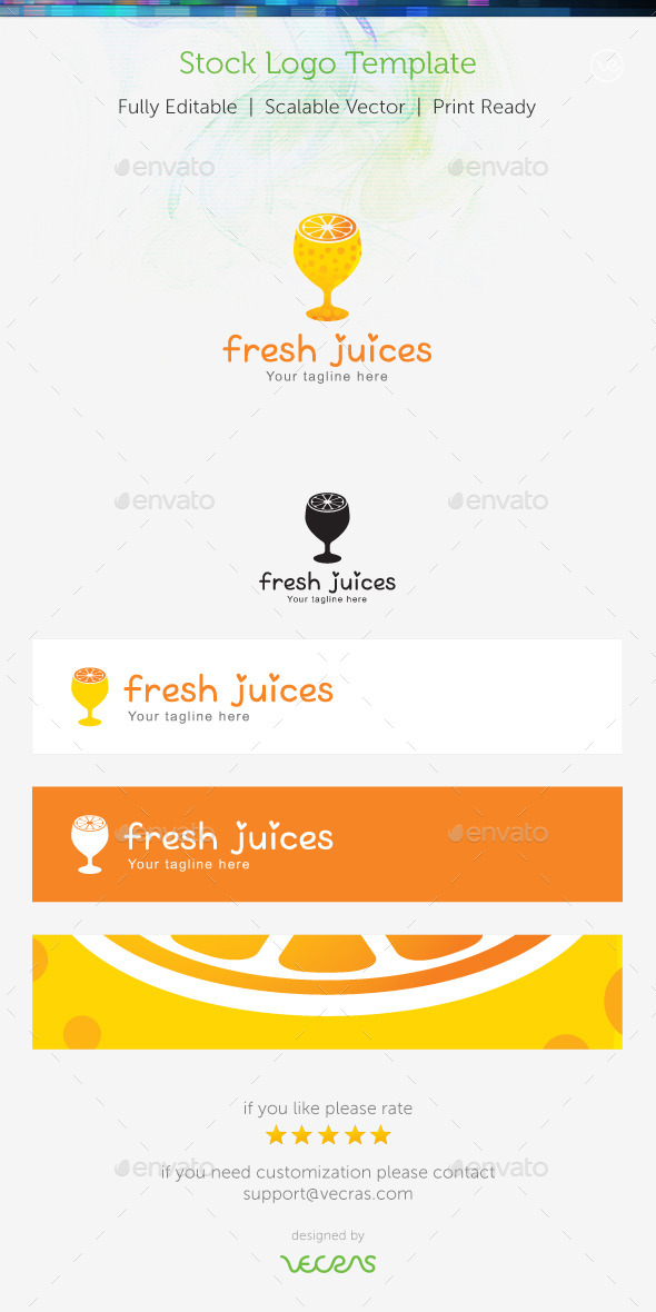 GraphicRiver Fresh Juices Stock Logo Template 9322367