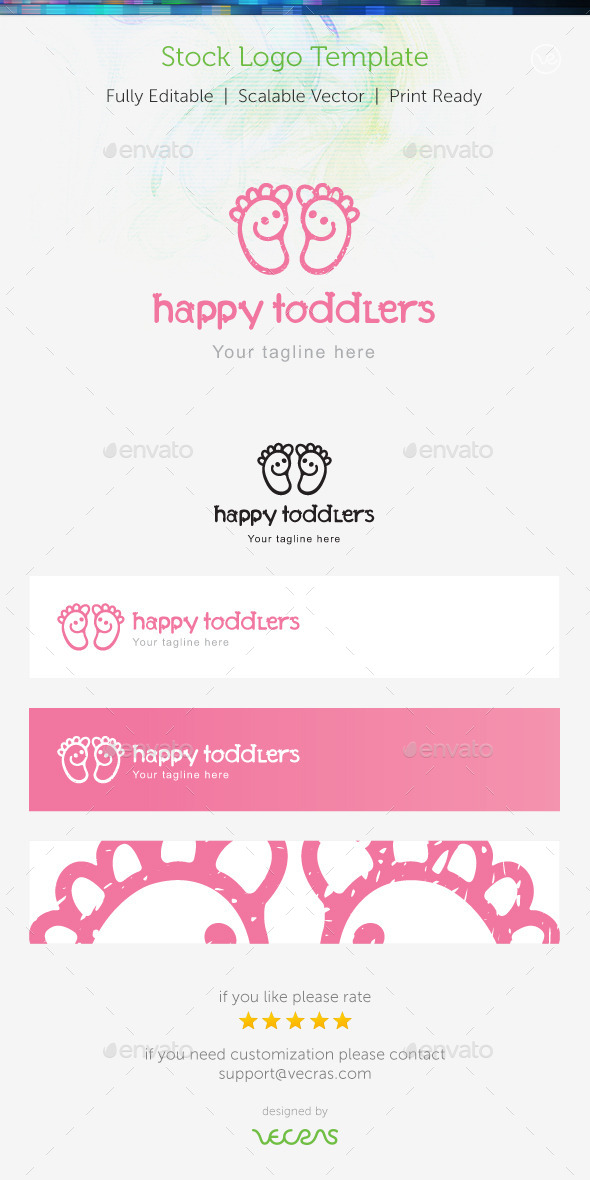GraphicRiver Happy Toddlers Stock Logo Template 9322382
