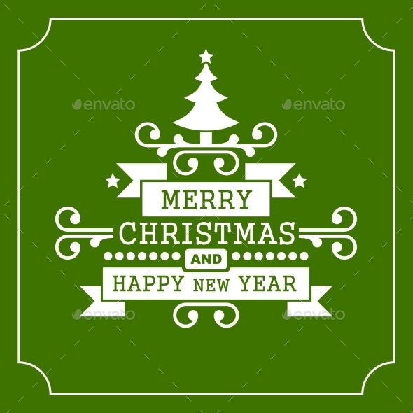 GraphicRiver Christmas Retro Typographic Background 9322581