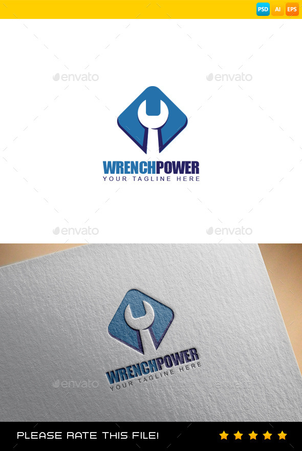 GraphicRiver Wrench Logo 9291039