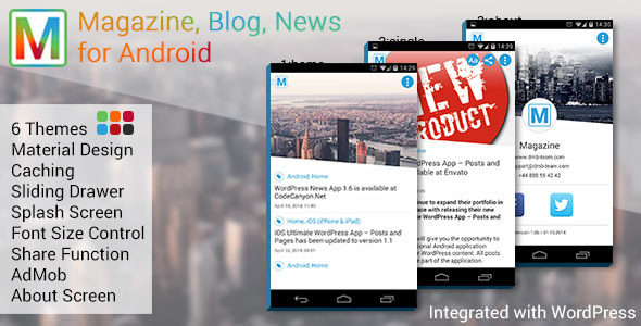 CodeCanyon Magazine Blog News App for Android 9322812