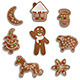 Christmas Gingerbread - GraphicRiver Item for Sale