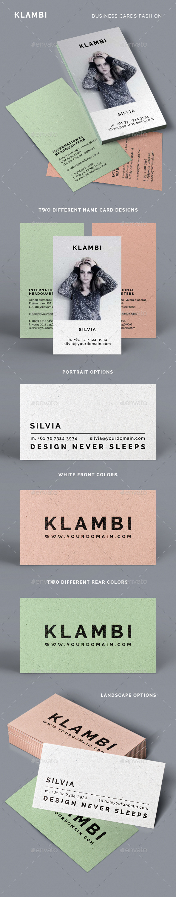 GraphicRiver Fashion Business Cards Klambi 9322850