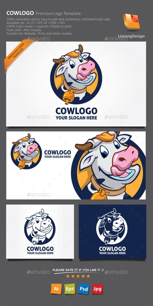 GraphicRiver Cow Cartoon Logo 9289176