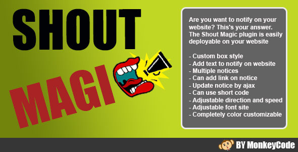 CodeCanyon Shout Magic Notices Slider 9322984