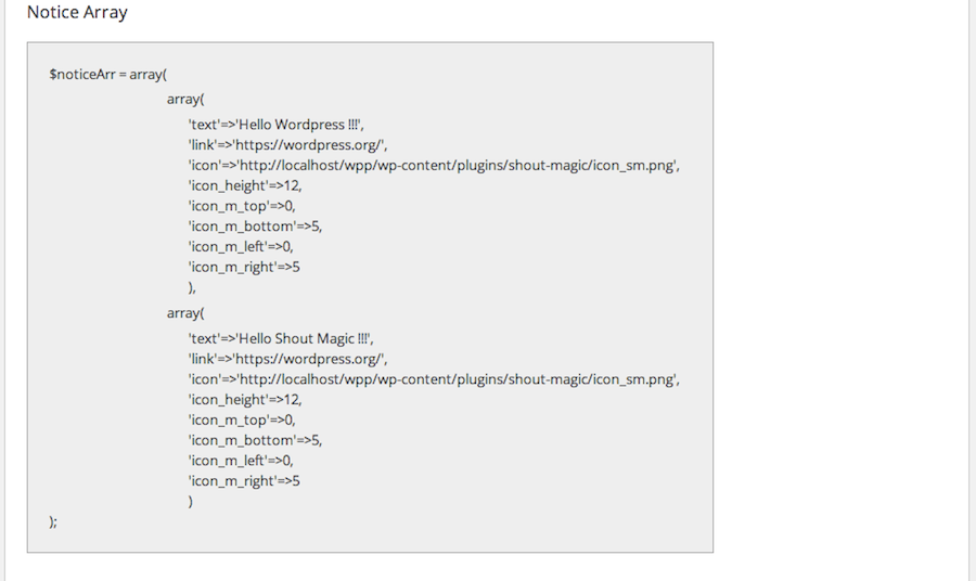 Shout Magic - Notices Slider WordPress plugin