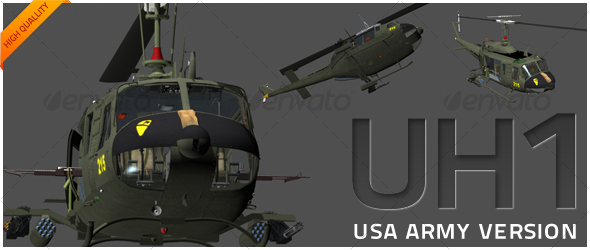 3DOcean UH1 Huey Extreme 119727