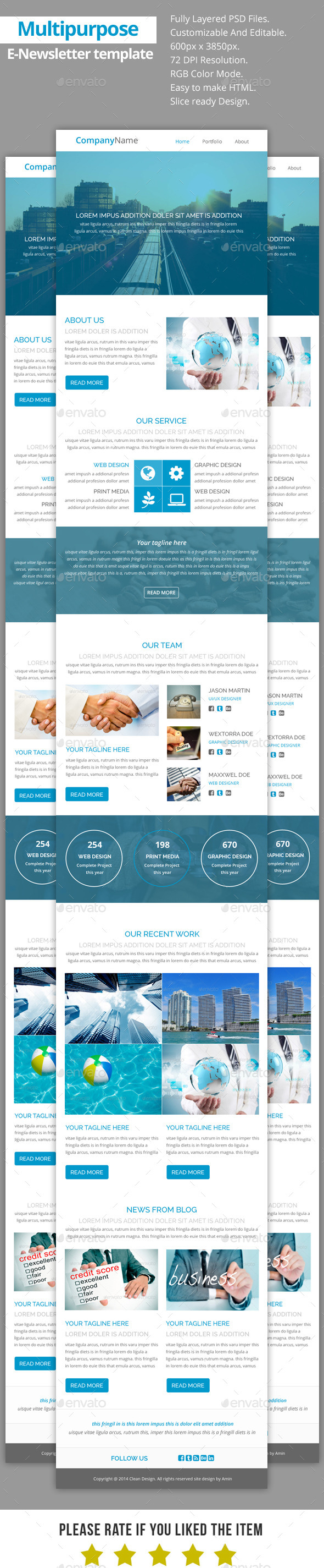 GraphicRiver Multipurpose E-Newsletter Template V20 9323031
