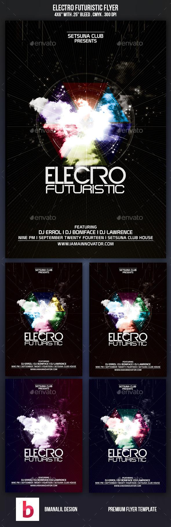 GraphicRiver Electro Futuristic Flyer 9323053