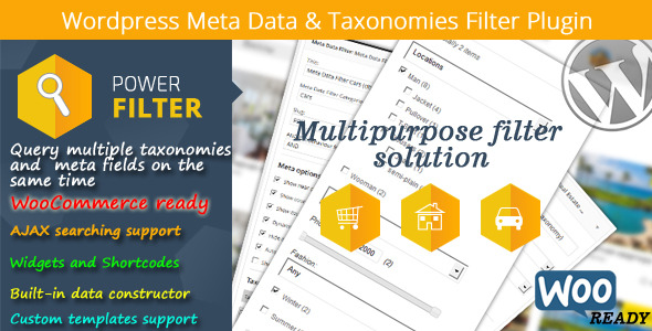 Wordpress Meta Data & Taxonomies Filter - CodeCanyon Item for Sale