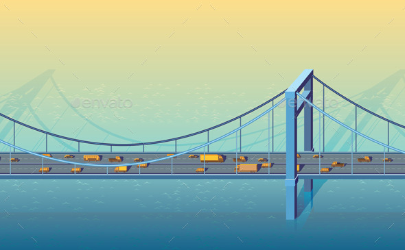 GraphicRiver Large Bridge 9323209