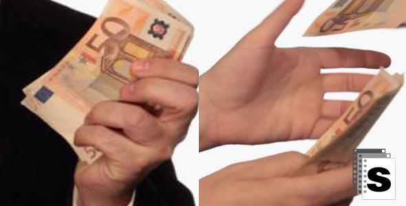 Businessman Throwing Euros