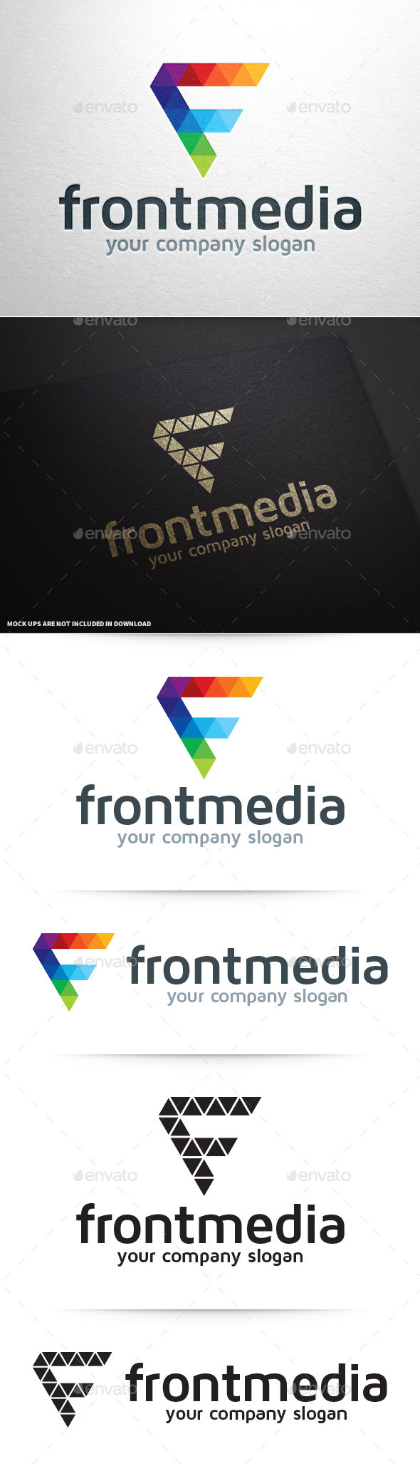 GraphicRiver Front Media Letter F Logo 9323276