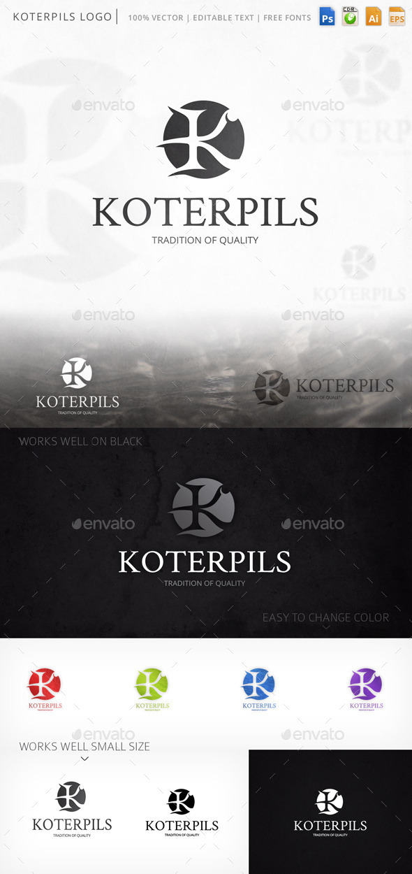 GraphicRiver Koterpils Logo 9323327