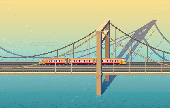GraphicRiver Sunny Railway Bridge 9323347