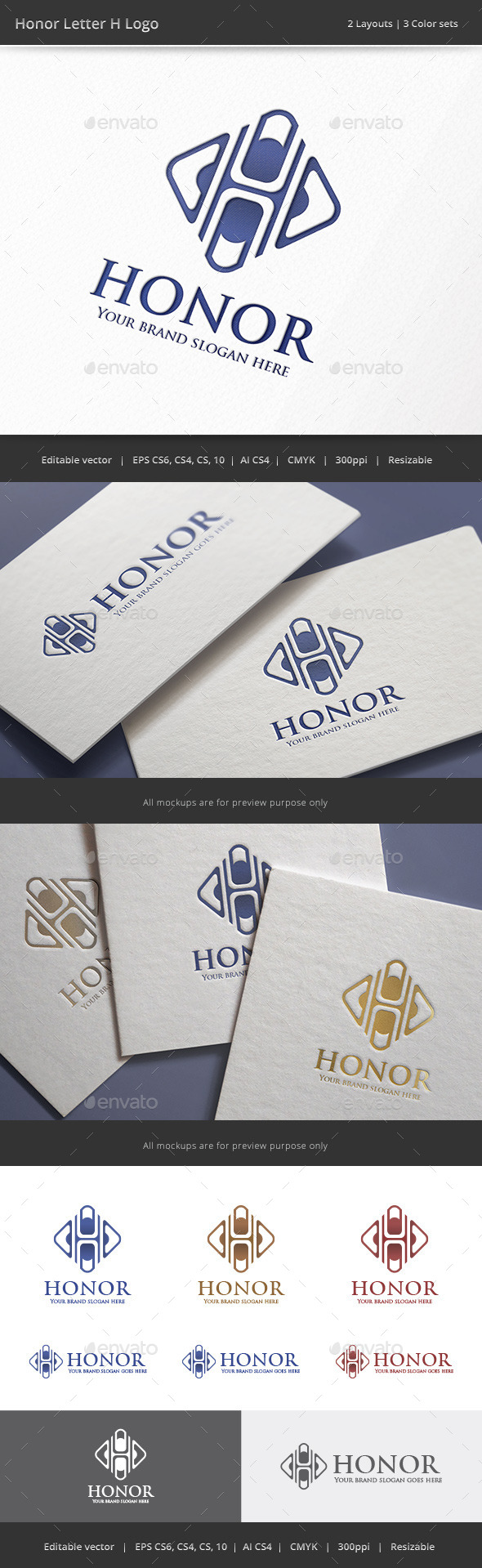 GraphicRiver Honor Letter H Logo 9323356