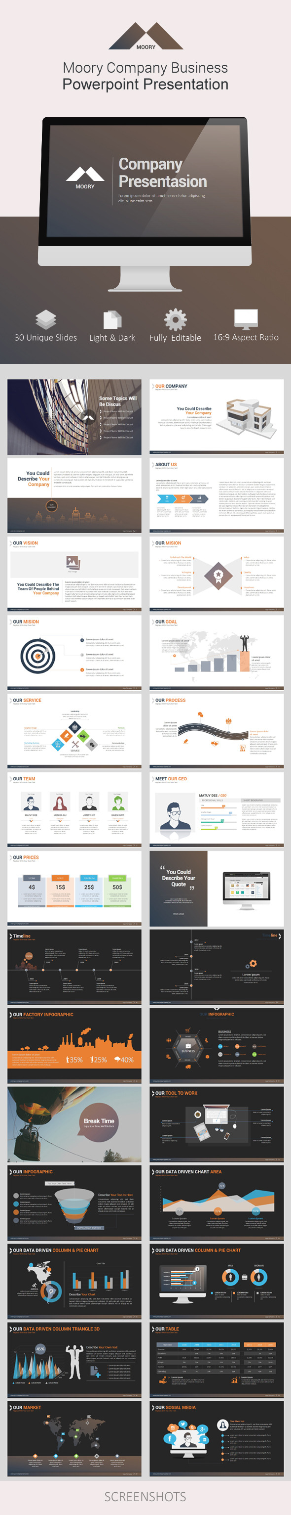 GraphicRiver Moory Company Powerpoint Presentation 9323489