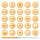 Orange Media Player Buttons - GraphicRiver Item for Sale