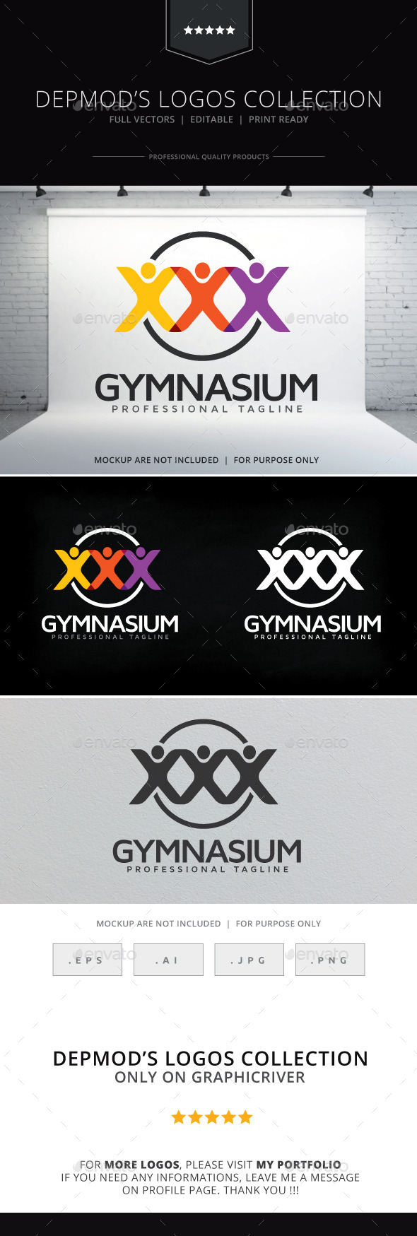 GraphicRiver Gymnasium Logo 9323663