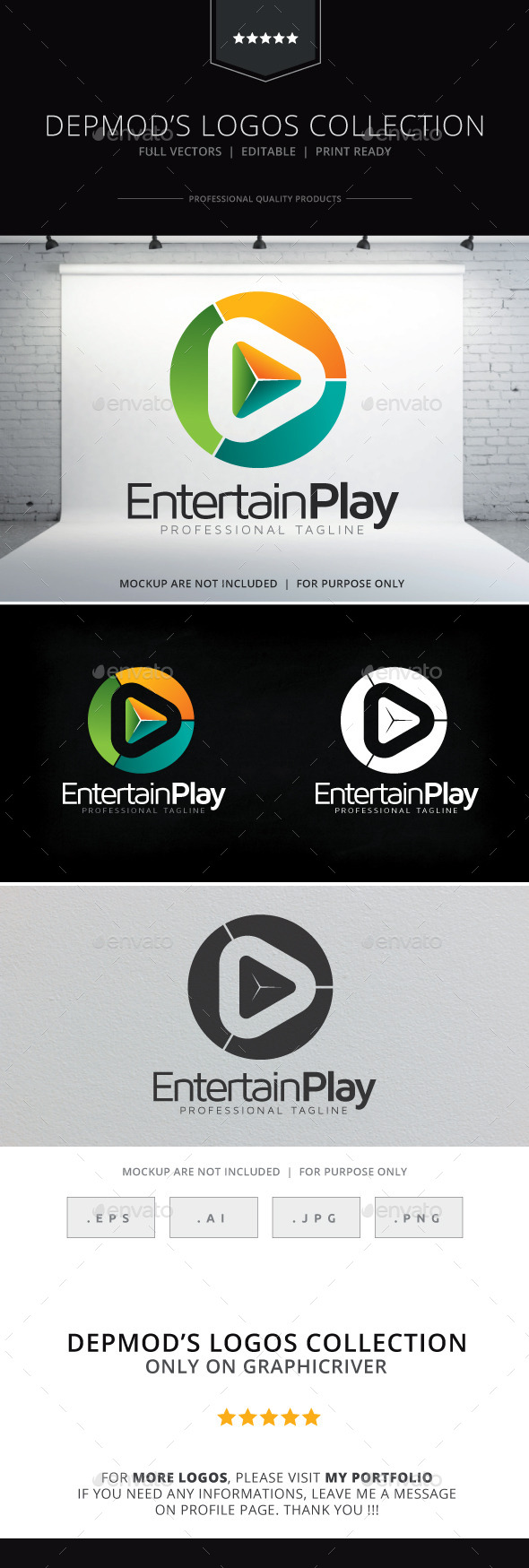 GraphicRiver Entertain Play Logo 9323673