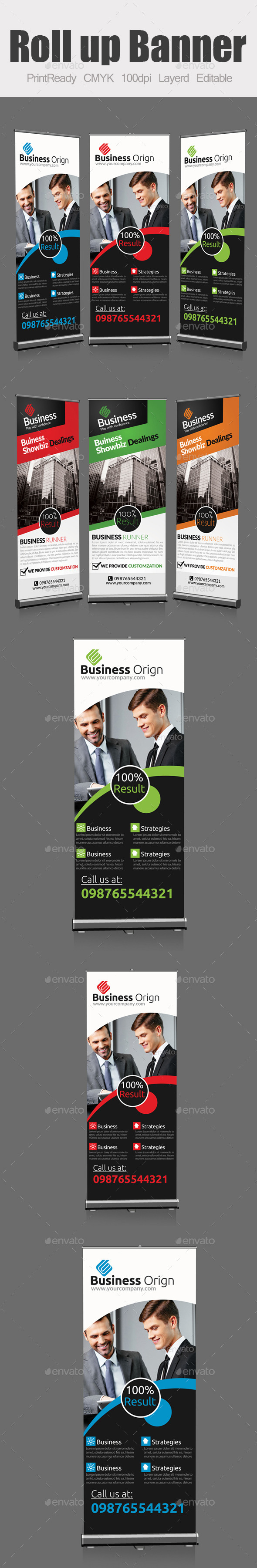GraphicRiver Roll Up Business Banners Bundle 9323692