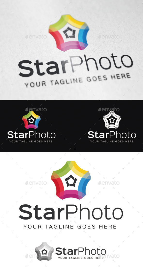 Star Photo Logo Template