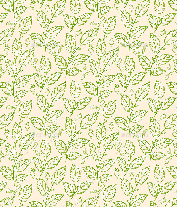 GraphicRiver Seamless Pattern with Green Branches 9323766