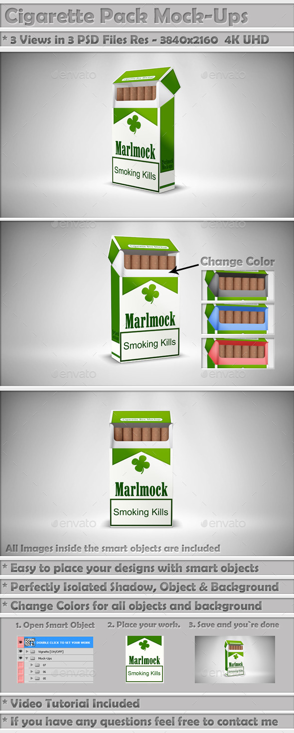 GraphicRiver Cigarette Package Mock-Up 9274683